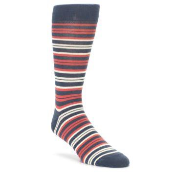 Marsala Color Men's Stripe Socks by Statement Sockwear