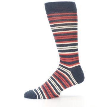 Image of Marsala Slate Stripe Men's Dress Socks (side-2-11)