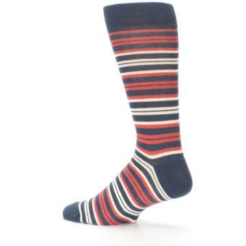 Image of Marsala Slate Stripe Men's Dress Socks (side-2-13)