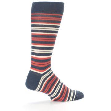 Image of Marsala Slate Stripe Men's Dress Socks (side-1-23)