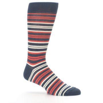 Image of Marsala Slate Stripe Men's Dress Socks (side-1-25)