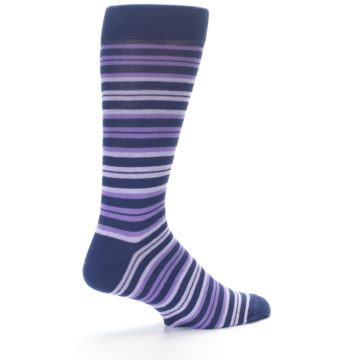 Image of Purple Stripe Men's Dress Socks (side-1-23)