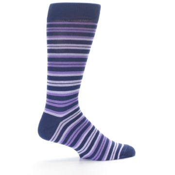 Image of Purple Stripe Men's Dress Socks (side-1-24)