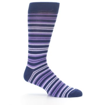 Image of Purple Stripe Men's Dress Socks (side-1-25)