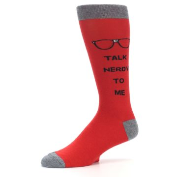 Image of Red Talk Nerdy to Me Men's Dress Socks (side-2-10)