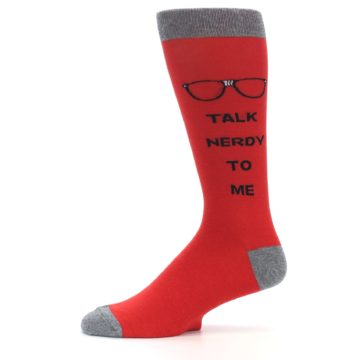 Image of Red Talk Nerdy to Me Men's Dress Socks (side-2-11)