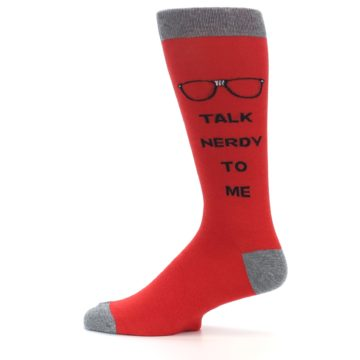 Image of Red Talk Nerdy to Me Men's Dress Socks (side-2-12)