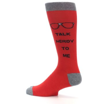 Image of Red Talk Nerdy to Me Men's Dress Socks (side-2-13)