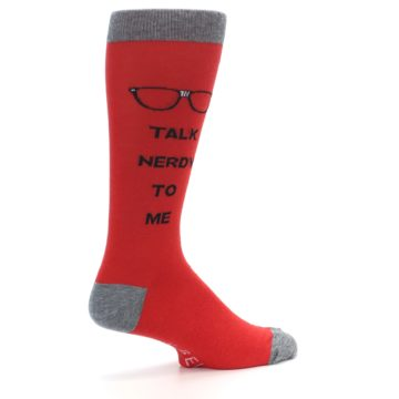 Image of Red Talk Nerdy to Me Men's Dress Socks (side-1-23)