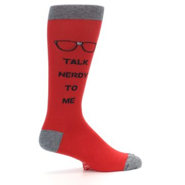 Image of Red Talk Nerdy to Me Men's Dress Socks (side-1-24)