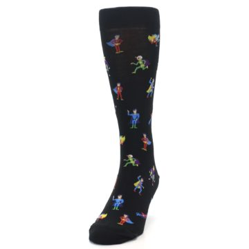 Image of Super Heros Men's Dress Socks (side-2-front-06)