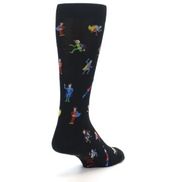 Image of Super Heros Men's Dress Socks (side-1-back-21)