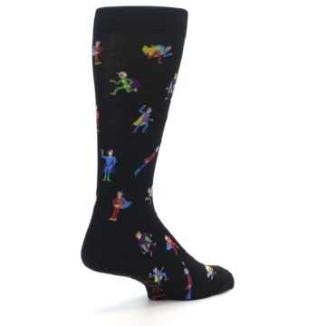 Image of Super Heros Men's Dress Socks (side-1-back-22)