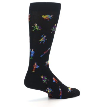 Image of Super Heros Men's Dress Socks (side-1-23)
