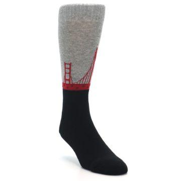 Image of Golden Gate Bridge US Made Men's Dress Socks (side-1-front-02)