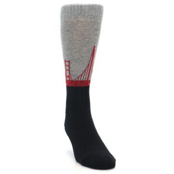 Image of Golden Gate Bridge US Made Men's Dress Socks (side-1-front-03)