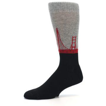 Image of Golden Gate Bridge US Made Men's Dress Socks (side-2-10)