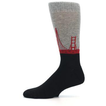 Image of Golden Gate Bridge US Made Men's Dress Socks (side-2-11)