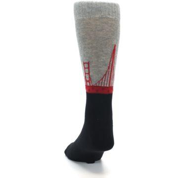 Image of Golden Gate Bridge US Made Men's Dress Socks (back-17)