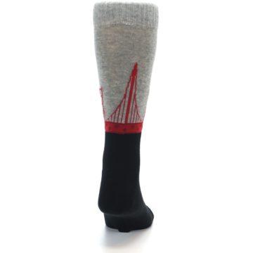 Image of Golden Gate Bridge US Made Men's Dress Socks (back-19)
