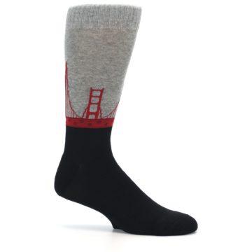Image of Golden Gate Bridge US Made Men's Dress Socks (side-1-25)