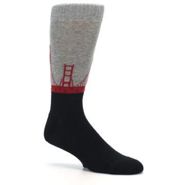 Image of Golden Gate Bridge US Made Men's Dress Socks (side-1-26)