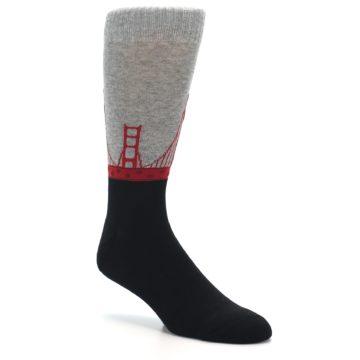 Image of Golden Gate Bridge US Made Men's Dress Socks (side-1-27)