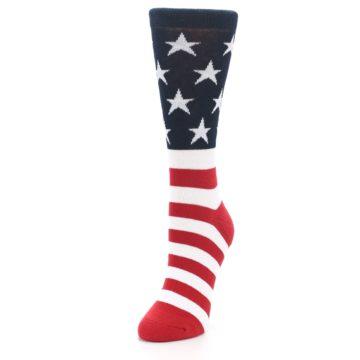 Image of American Flag USA Made Women's Dress Socks (side-2-front-07)