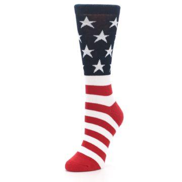 Image of American Flag USA Made Women's Dress Socks (side-2-front-08)