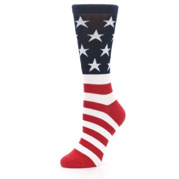Image of American Flag USA Made Women's Dress Socks (side-2-09)