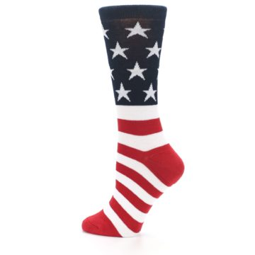 Image of American Flag USA Made Women's Dress Socks (side-2-12)