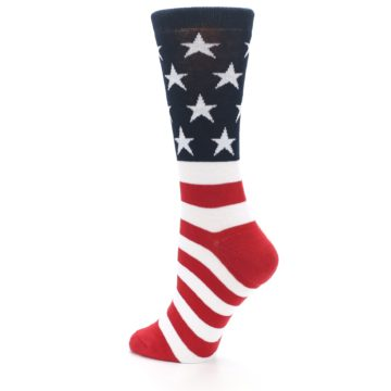 Image of American Flag USA Made Women's Dress Socks (side-2-13)
