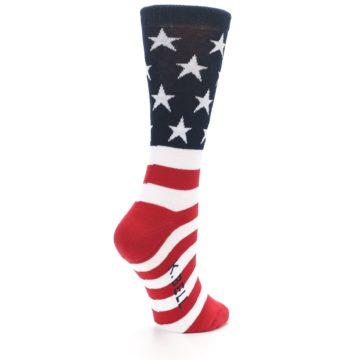Image of American Flag USA Made Women's Dress Socks (side-1-back-21)