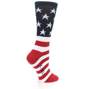 Image of American Flag USA Made Women's Dress Socks (side-1-back-22)