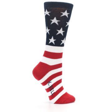 Image of American Flag USA Made Women's Dress Socks (side-1-23)