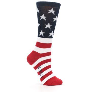 Image of American Flag USA Made Women's Dress Socks (side-1-24)