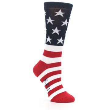 Image of American Flag USA Made Women's Dress Socks (side-1-25)