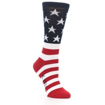 Image of American Flag USA Made Women's Dress Socks (side-1-26)