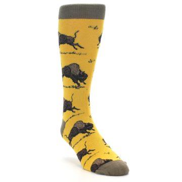 Image of Yellow Buffalo Men's Dress Socks (side-1-front-02)