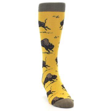 Image of Yellow Buffalo Men's Dress Socks (side-1-front-03)