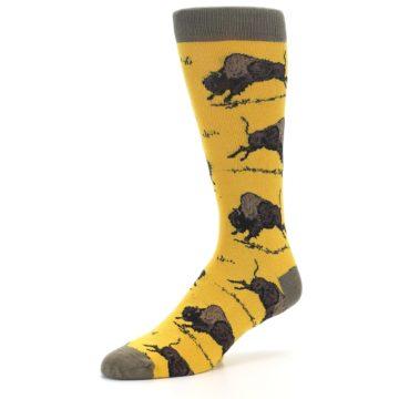Image of Yellow Buffalo Men's Dress Socks (side-2-09)