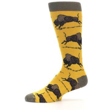 Image of Yellow Buffalo Men's Dress Socks (side-2-11)