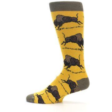 Image of Yellow Buffalo Men's Dress Socks (side-2-12)