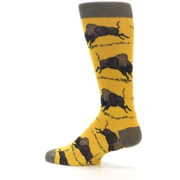 Image of Yellow Buffalo Men's Dress Socks (side-2-13)