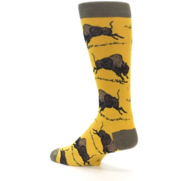 Image of Yellow Buffalo Men's Dress Socks (side-2-back-14)