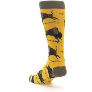 Image of Yellow Buffalo Men's Dress Socks (side-2-back-15)