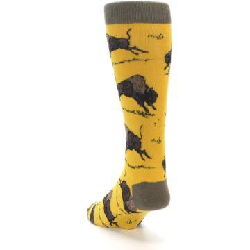 Image of Yellow Buffalo Men's Dress Socks (side-2-back-16)