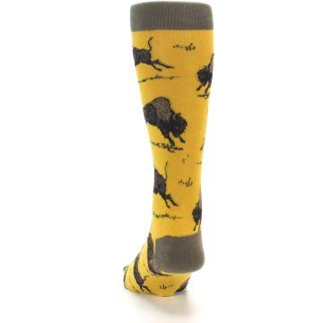 Image of Yellow Buffalo Men's Dress Socks (back-17)
