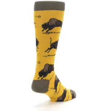 Image of Yellow Buffalo Men's Dress Socks (side-1-back-21)