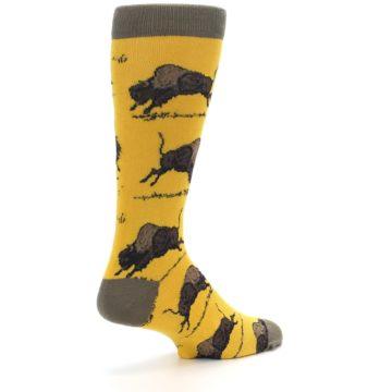 Image of Yellow Buffalo Men's Dress Socks (side-1-back-22)